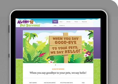 Aloha Pet Services website