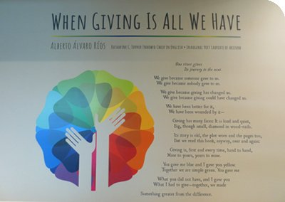 Philanthropy Poem Wall