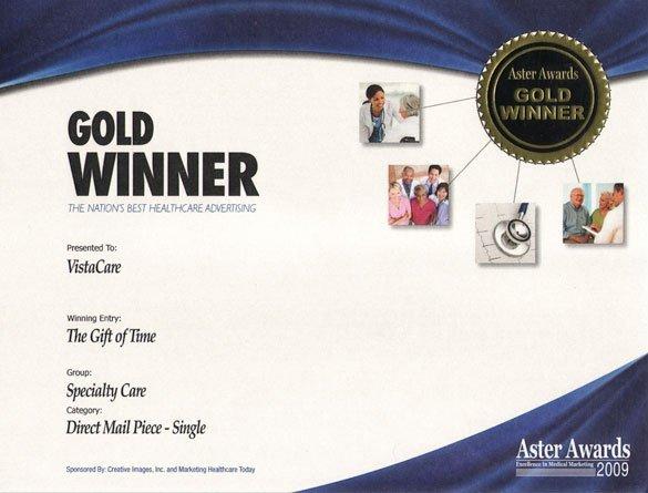2009 Aster Award - Gold