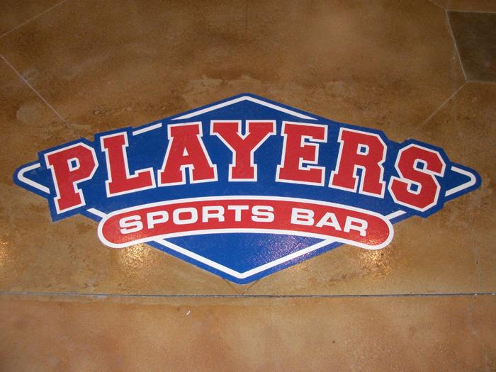 Players Sports Bar San Marcos floor logo