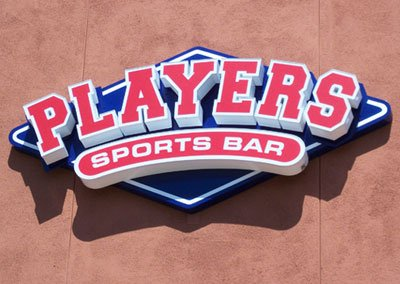 Players Sports Bar Signage
