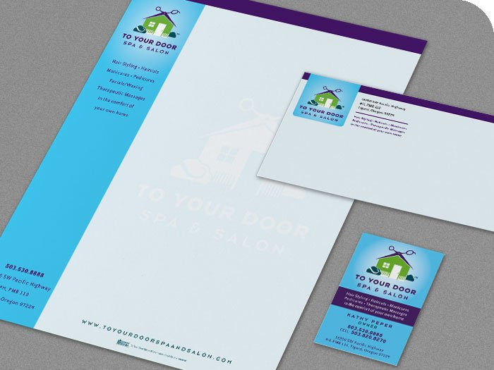 To Your Door Spa and Salon ID Package