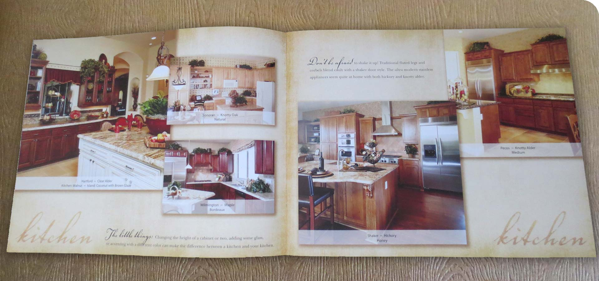 OakCraft Kitchen Page Spread