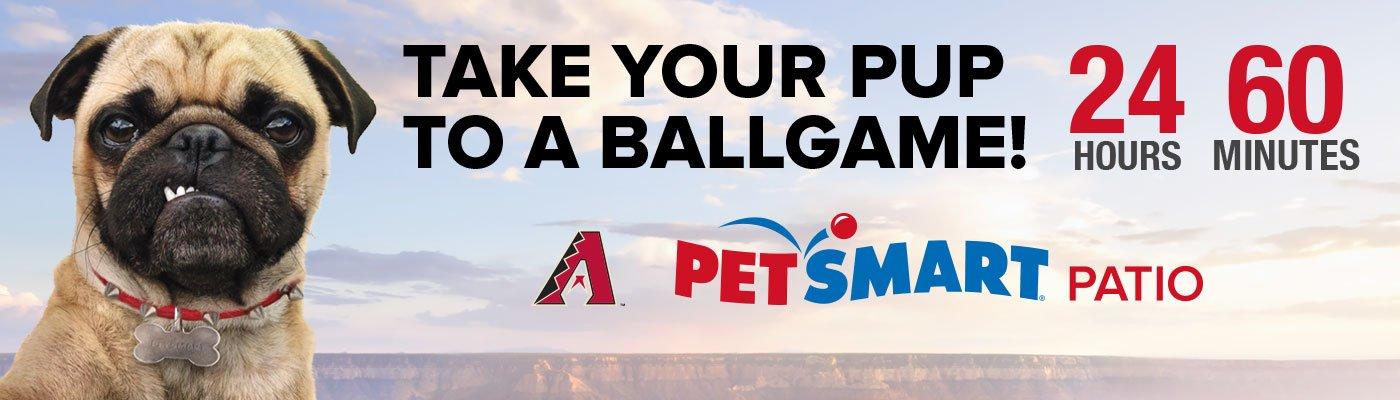 PetSmart Patio Take Your Pup to a Ballgame Countdown Billboard