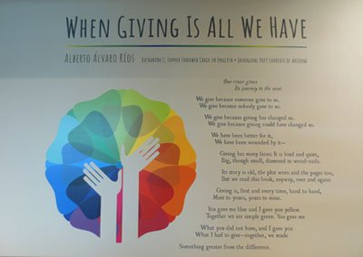Philanthropy Poem Wall