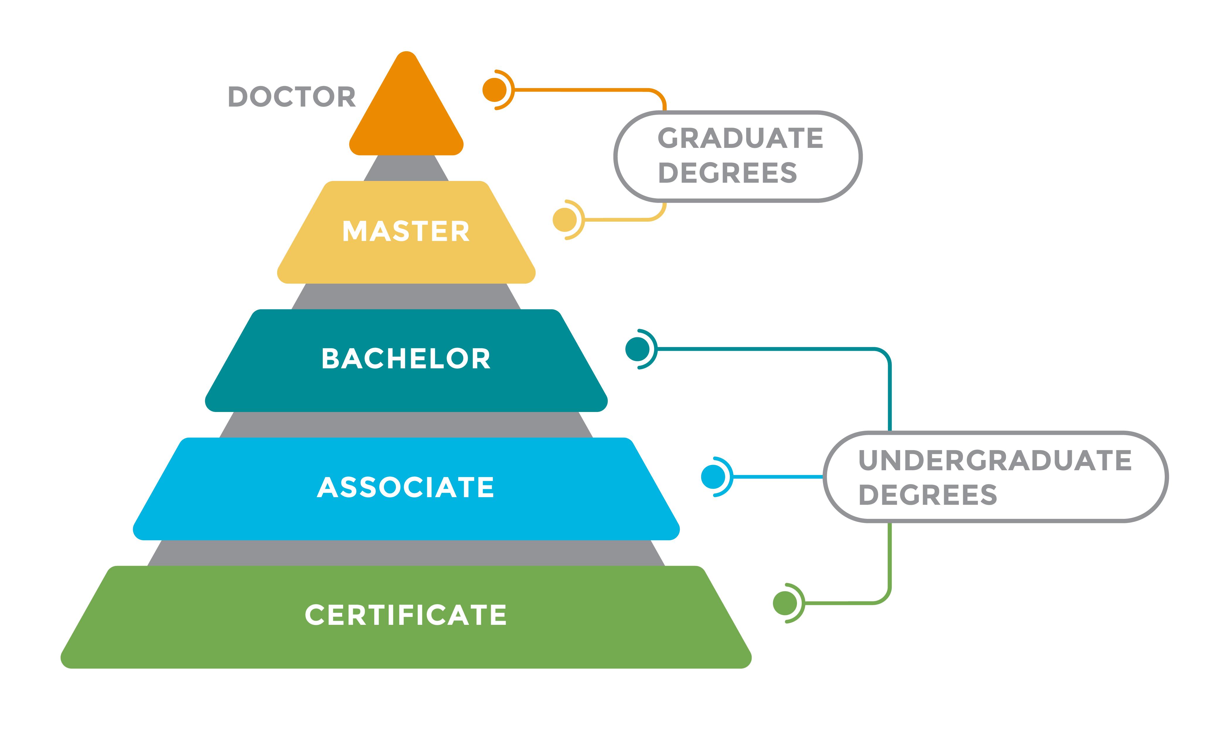 Degree Pyramid infographic